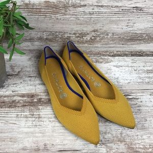 Rothy's Marigold Yellow Point Flats